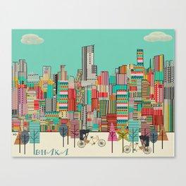 Dhaka Bangadesh skyline Canvas Print