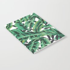 Tropical Glam Banana Leaf Print Notebook