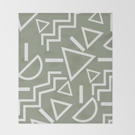 Shapes- lost and found Throw Blanket