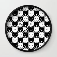 chess Wall Clocks featuring Chess by pilastrum