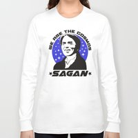 sagan Long Sleeve T-shirts featuring Carl Sagan we are the cosmos v2 by Buby87