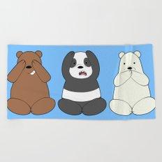 We Bare Wise Bears Beach Towel