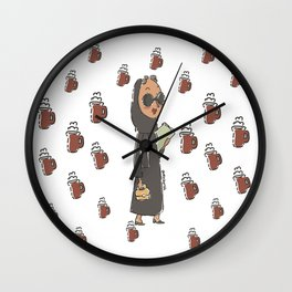 Young Emirati Working lady wearing abaya Wall Clock