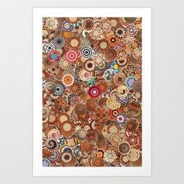 African Baskets Art Print