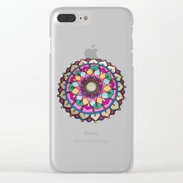 Bright mandala Clear iPhone Case