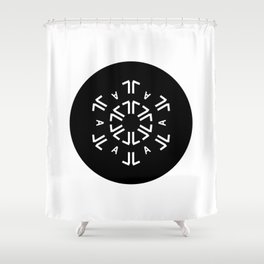 Typeflake 08 Shower Curtain