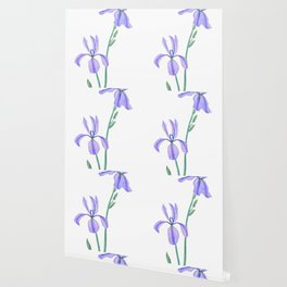 elegant purple iris Wallpaper