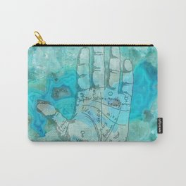 Agate Palm Reading Carry-All Pouch