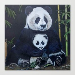 Giant Pandas Canvas Print