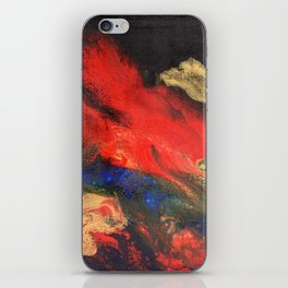 Red n Black Abstract iPhone Skin
