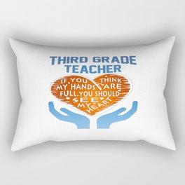 3rd Grade Teacher Rectangular Pillow