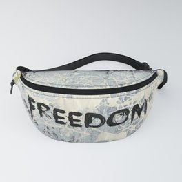Freedom Pollock Rothko Inspired Black White Red - Modern Art - Corbin Henry Fanny Pack