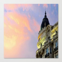 Sunset over the Carlton in Cannes! Canvas Print
