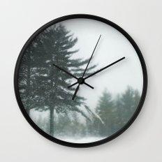 Snow Storm Wall Clock