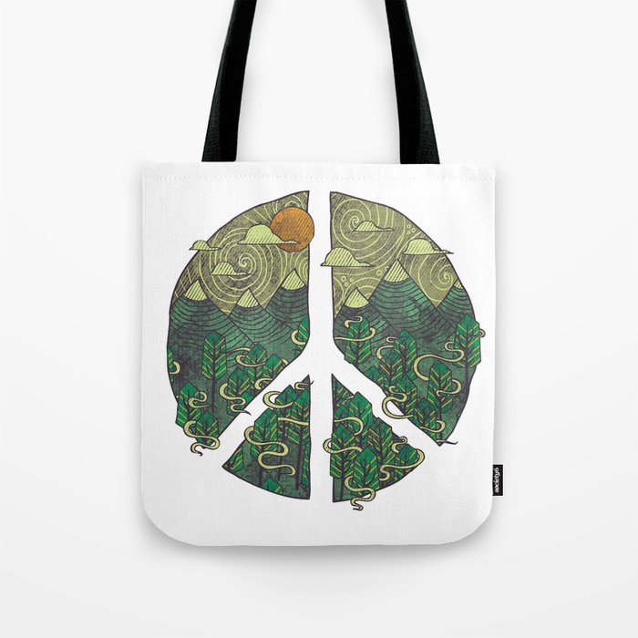 Peaceful Landscape Tote Bag
