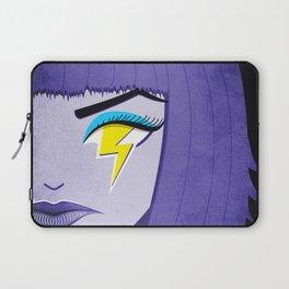 Lightning Eye Girl Silent Rage Laptop Sleeve