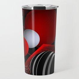 crazy lines and balls -20- Travel Mug