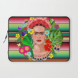 Frida Kahlo Floral Exotic Portrait Laptop Sleeve