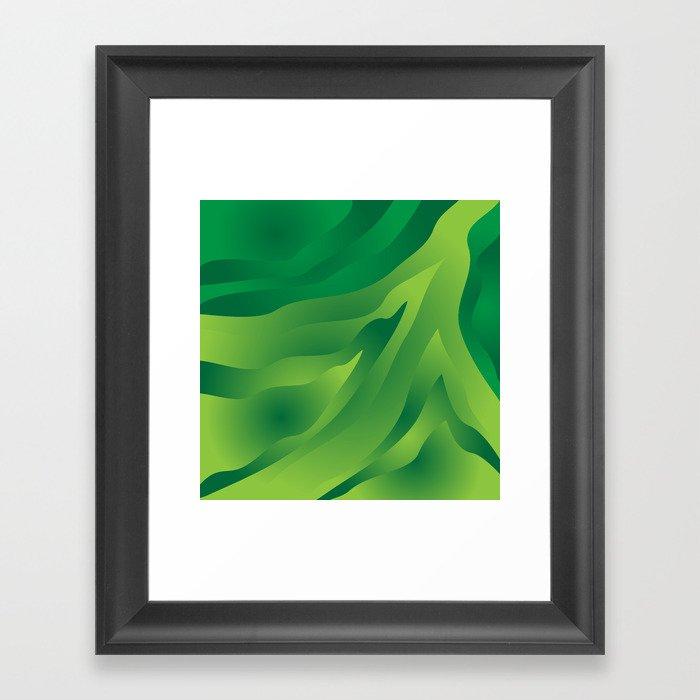 Camo Green Framed Art Print