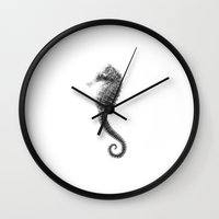 seahorse Wall Clocks featuring Seahorse by Hermes_GC