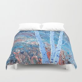 The Majesty of Birch Trees Duvet Cover
