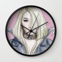 moschino Wall Clocks featuring Barbiedoll by Samera Tseng