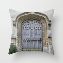Oxford door 9 Throw Pillow