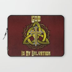 God Is My Salvation Laptop Sleeve