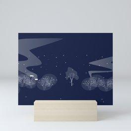 nuage fond bleu Mini Art Print