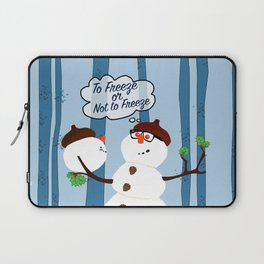 Funny Snowman Holiday Design Laptop Sleeve