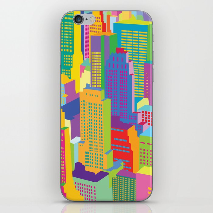 Cityscape windows iPhone Skin