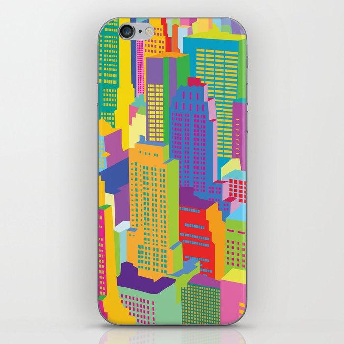 Cityscape windows iPhone Skin