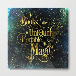 Books Are a Uniquely Portable Magic Metal Print