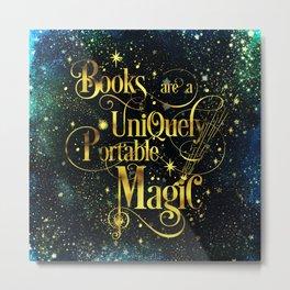 Books Are a Uniquely Portable Magic Metal Print