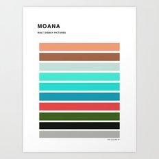 The colors of - Moana Art Print