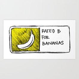 B for Bananas Art Print