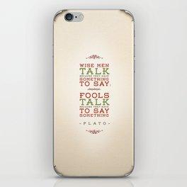 Plato regarding talking iPhone Skin