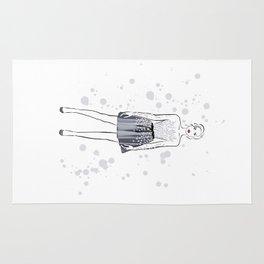 Girl in grey #2 Rug