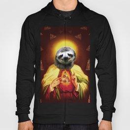 Holy Pizza Sloth Lord Jesus All over big print Animal Savior Hoody