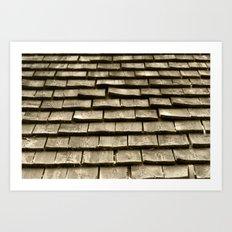 Wood Roof Art Print
