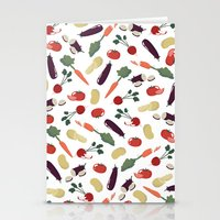 vegetable Stationery Cards featuring Vegetable by Ceren Aksu Dikenci