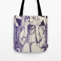 prince Tote Bags featuring Prince by black door