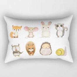 Mr. Squirrel & His Friends Rectangular Pillow