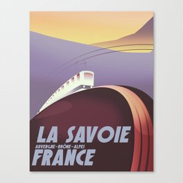 Savoy France train poster Canvas Print