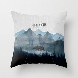California in Blue Throw Pillow