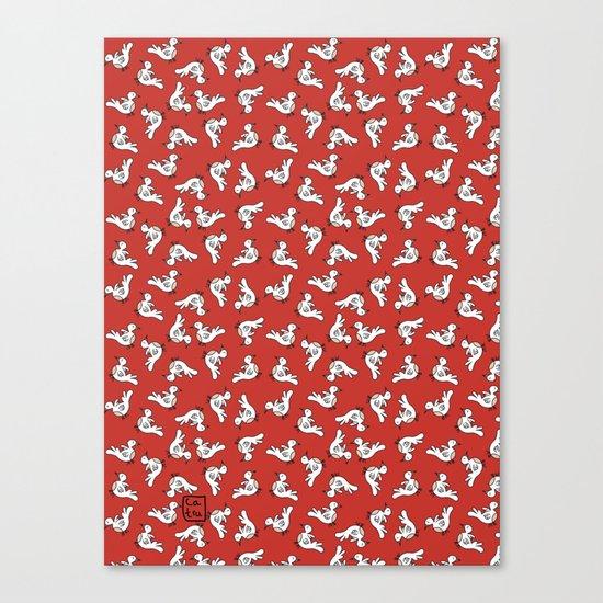 Birds {All birdie around - red} Canvas Print