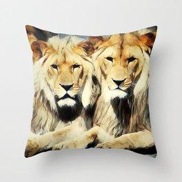 lion's harmoni Throw Pillow