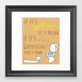 If It's Yellow picture Framed Art Print