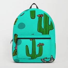 Cactus Rose in The Desert Backpack