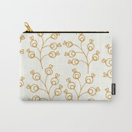 Golden floral pattern on cream Carry-All Pouch